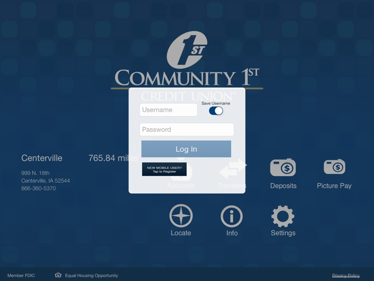 Community 1st CU for iPad