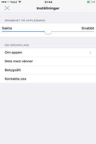 SpeakFlake - på svenska screenshot 3