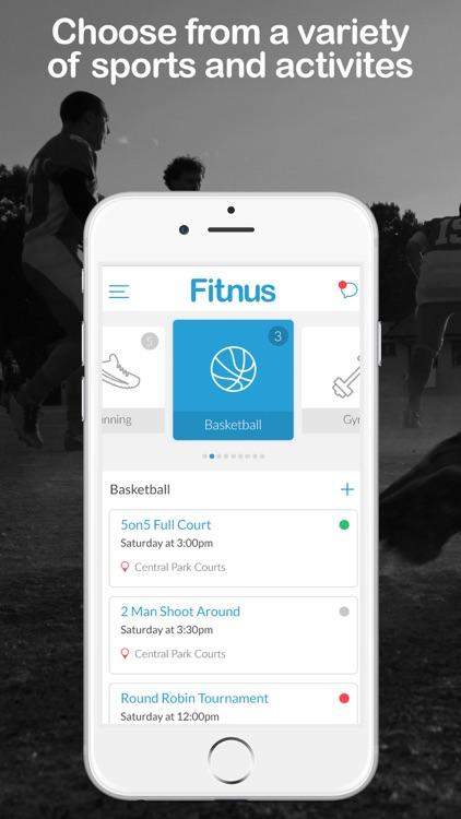 Fitnus - Join/Create Pick-Up Sports & Activities. screenshot-0