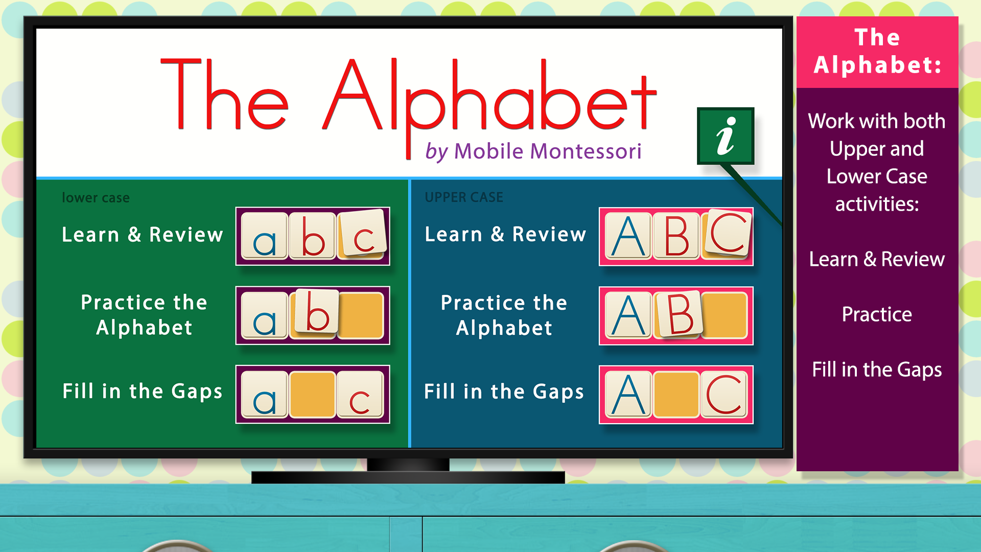 The Alphabet - Language by Mobile Montessori screenshot 1