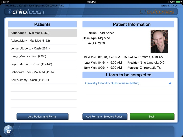 CT Outcomes Mobile 6.4