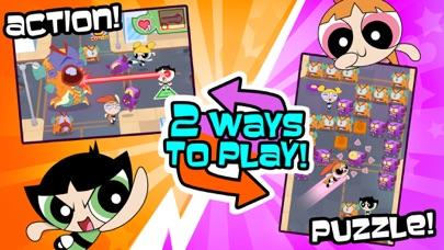フリップアウト! – パワーパフ ガールズのパズル&バトルアクションゲームのおすすめ画像1