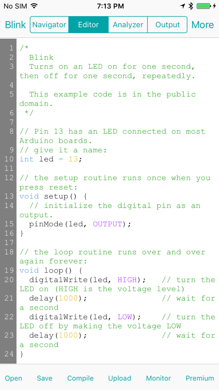 ArduinoCode - Arduino IDE (Compiler, Uploader & Serial Monitor) Screenshot