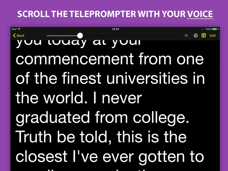 Voice Teleprompter - Speech Prompter with Smart Scrolling