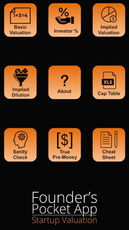 Founder's Pocket App: Startup Valuation