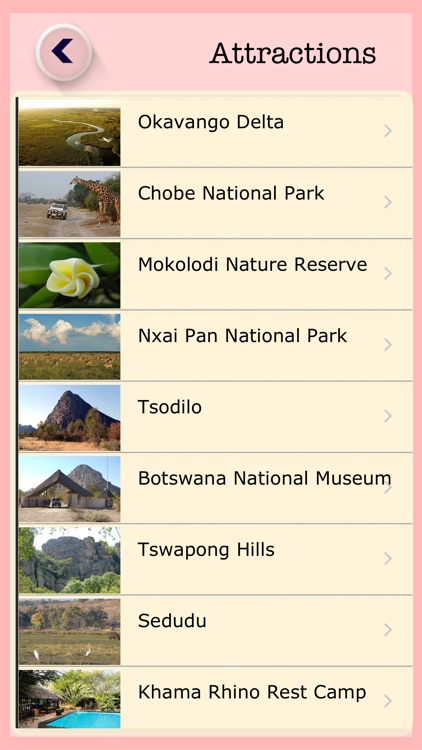 Botswana Tourist Attractions