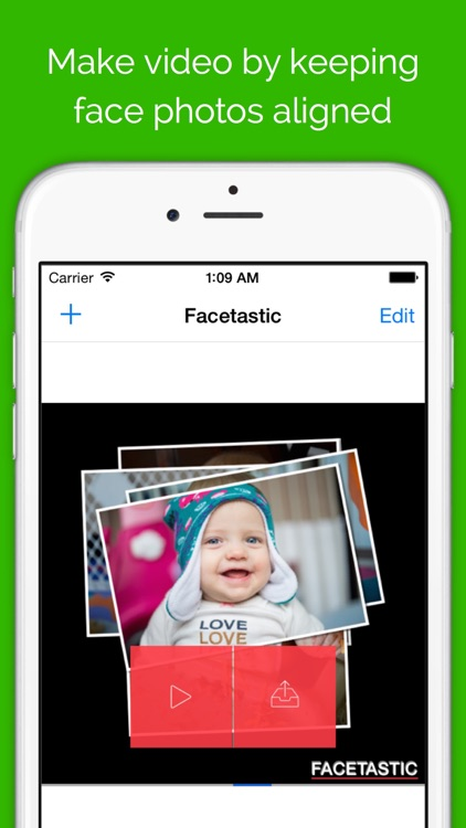 Facetastic - slideshow maker to create time-lapse movies by keeping face photos aligned during transitions