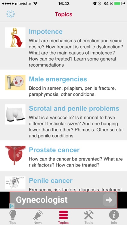 Men's App - The medical app to take care of men's health