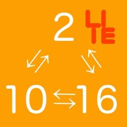 瞬換 進数 Lite - 2進数、10進数、16進数を一瞬で換算