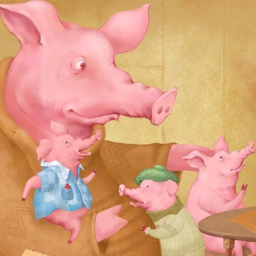 Tre Små Grisar - En interaktiv barnbok