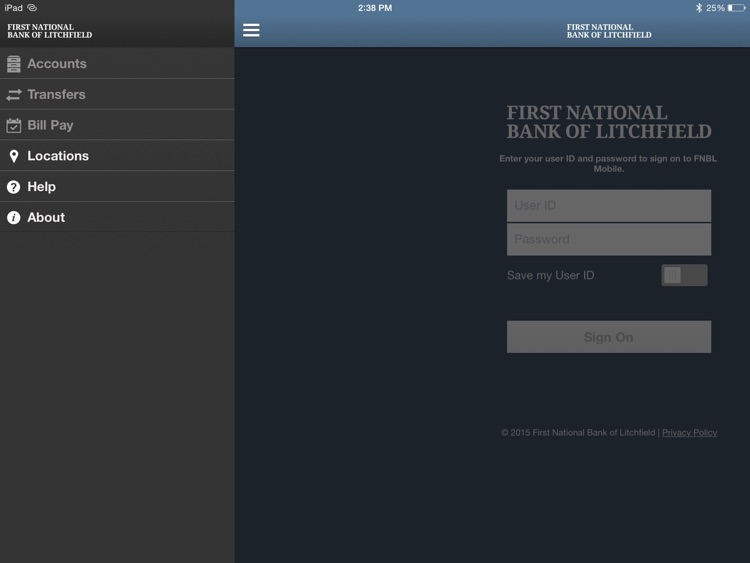 FNBL Mobile for iPad