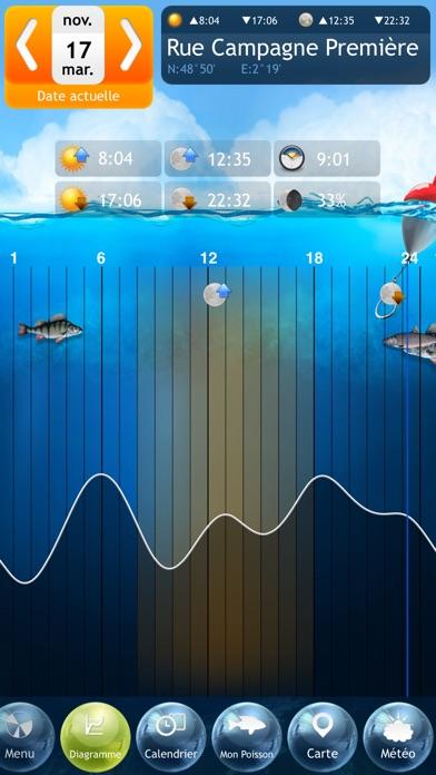 Screenshot #3 pour Pêche Deluxe – Calendrier et Meilleures Heures de Pêche