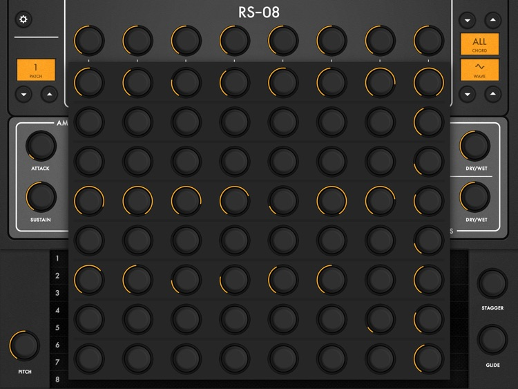RS-08 | 8 Oscillator Ribbon Synth screenshot-4