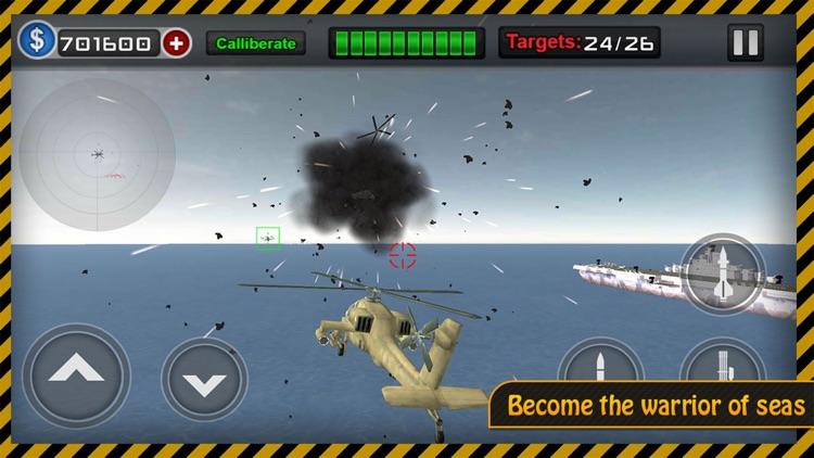 Gunship Heli Warfare Battle Game free screenshot-4