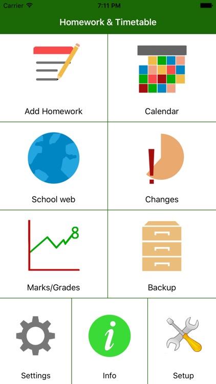 HomeWork & Timetable App
