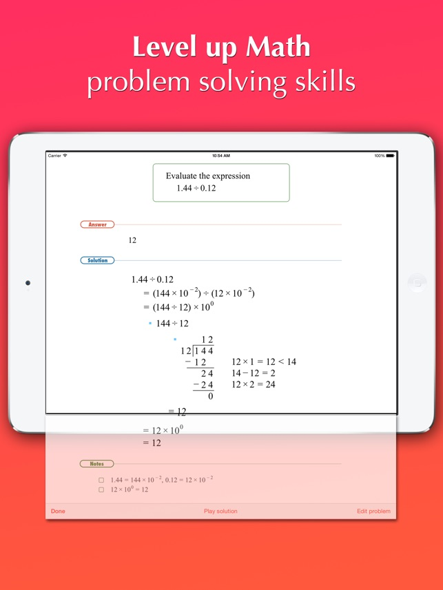 FX Math Junior Problem Solver on the App Store