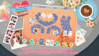 Solitaire: Match 2 Cards. Valentine's Day Free. Matching