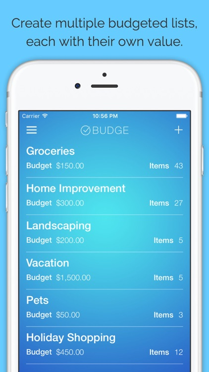 Budge - Budget Your Shopping Lists screenshot-0