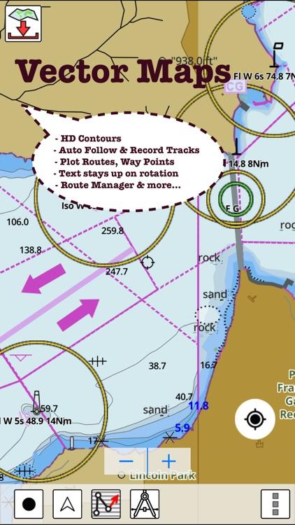 Marine Navigation - Lake Depth Maps - USA - Offline Gps Nautical Charts for Fishing, Sailing and Boating screenshot-4