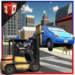 Police Car Lifter Simulator 3D – Drive cops vehicle to lift wrongly parked cars