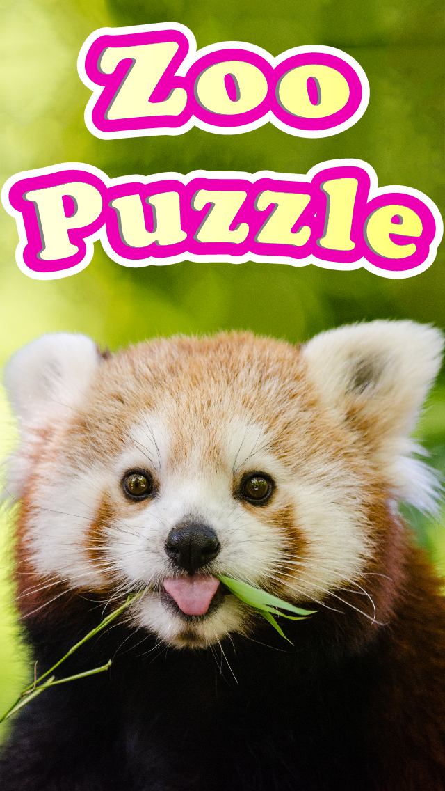 Red Panda Puzzles Jigsaws Games with Wild Animals in the Zoo