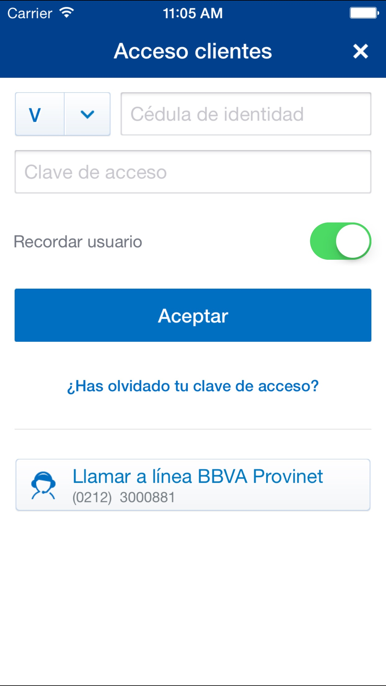 BBVA Provinet Móvil | VE Screenshot