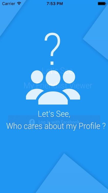 Who cares about my profile for FB