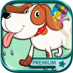 Drawings of dogs puppies Educational games children - Premium