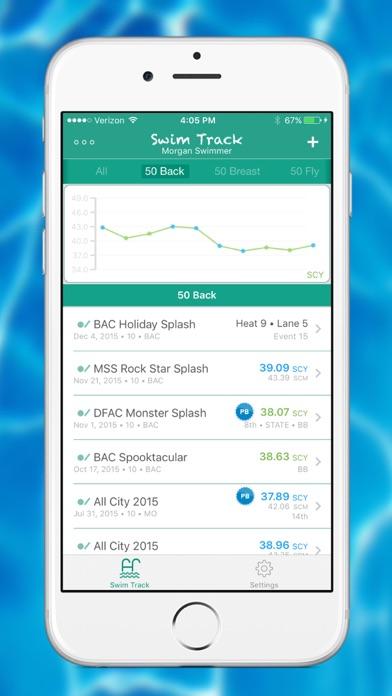 Screenshot #2 for Swim Track - Meet Time