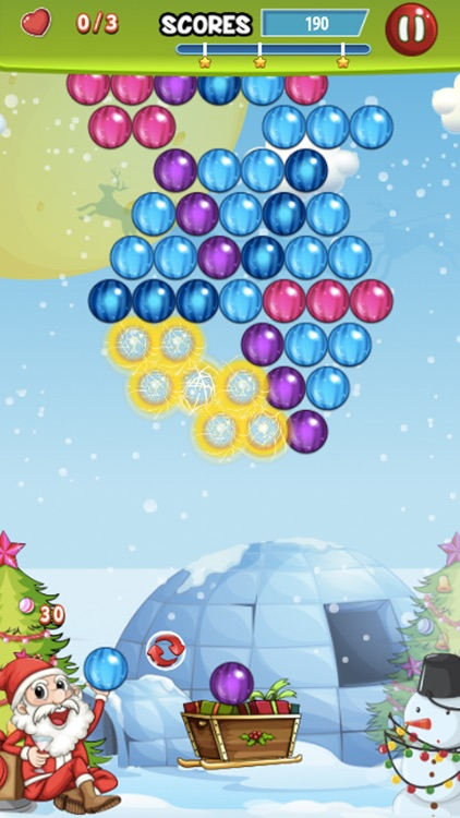Bubble Winter Season - Matching Shooter Puzzle Game Free screenshot-2