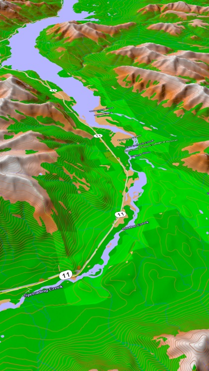 Scenic Map Central Canada screenshot-3