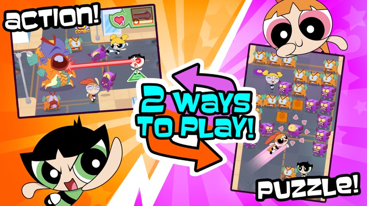 Flipped Out – The Powerpuff Girls Match 3 Puzzle / Fighting Action Game screenshot-0