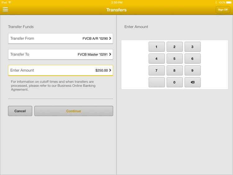 FVCbank Business for iPad screenshot-2