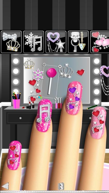 Nail Polish Pro Nail Art Designer Game Featuring Sparkling Holo Gel