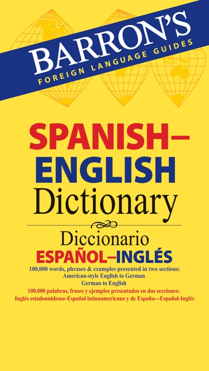 Barron's Spanish-English Bilingual Dictionary