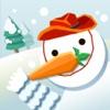 Snowman-ski in forset