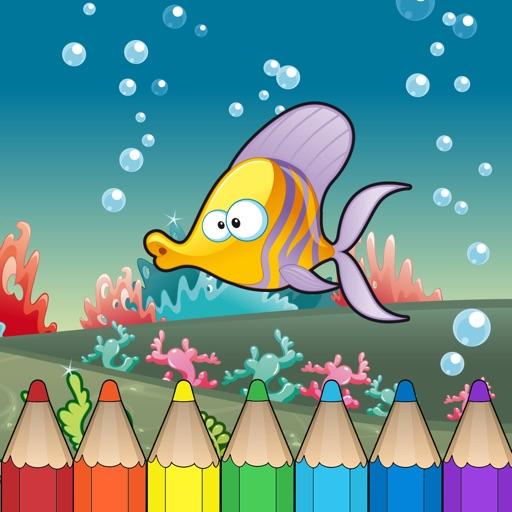 Underwater & sea animal Coloring Book for Kids