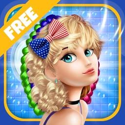 Beautiful Girl Hair Salon with Dress Up kids Game