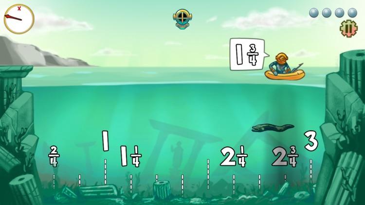 Pearl Diver: Number Line Math Game screenshot-3