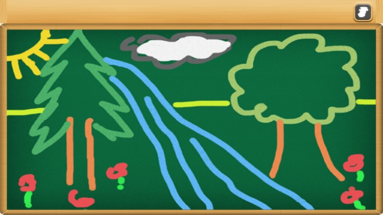 Chalkboard for kids : free drawing and colouring with realistic chalk screenshot-4