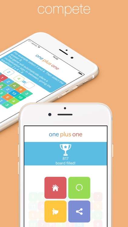 One Plus One - Pure Math Puzzle (Addition, Subtraction, Multiplication and Division) screenshot-3