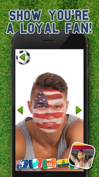 Football Fans Flag Face – Support Your Favorite National Team and Paint Faces screenshot-3