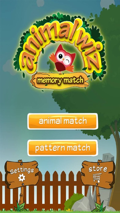 Animal Wiz Memory Match screenshot one