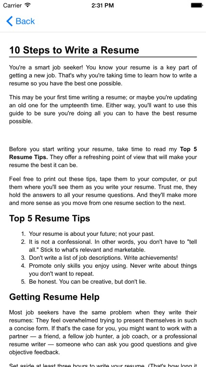 Guide to writing the perfect Curriculum Vitae (Résumé)