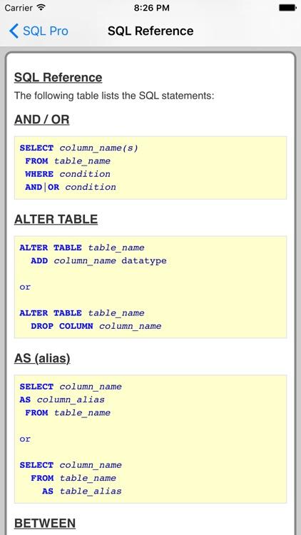 SQL Pro FREE screenshot-3
