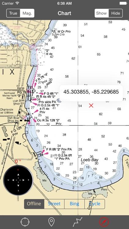 Lake Charlevoix (Michigan) – Raster Nautical Charts screenshot-3