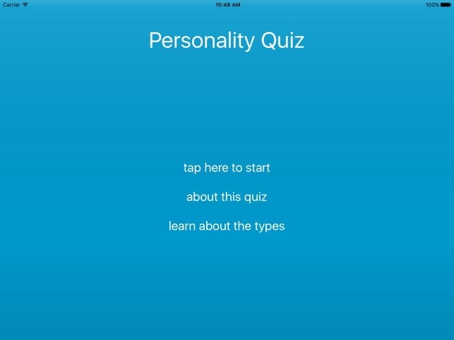 Personality Quiz Assessment on the App Store