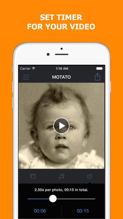 Motato: Morph Face Pictures for Slideshow Maker screenshot-3