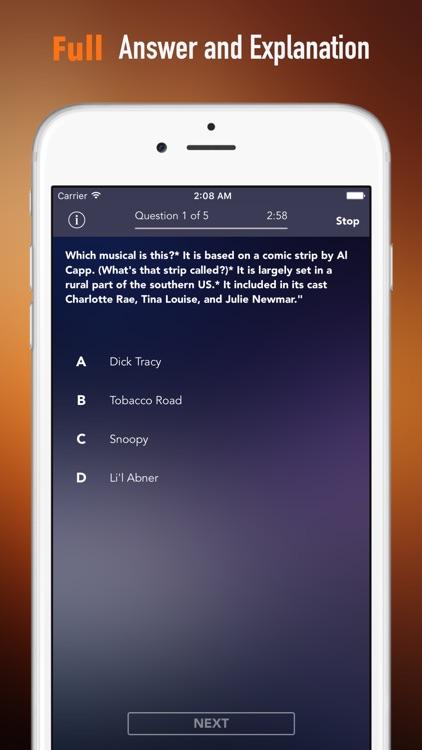 Musicals Trivia and Quiz: Fun Theatre Test Games