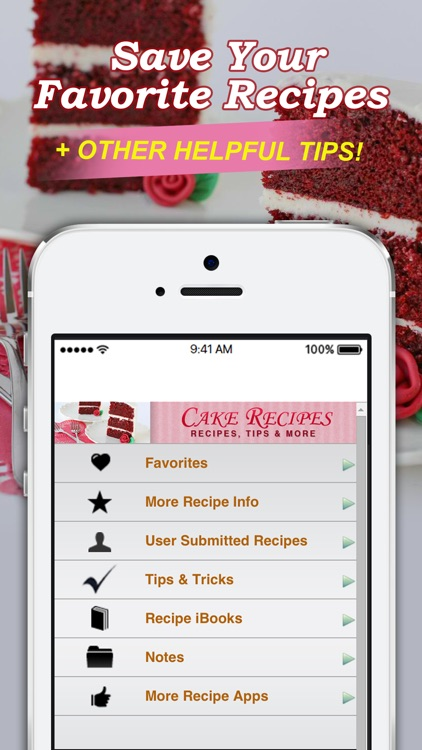 Cake Recipes! screenshot-3